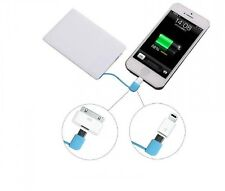 Cell Phone Portable Mini Ulter Slim Credit Card Wallet Size Power Bank 2600mAh