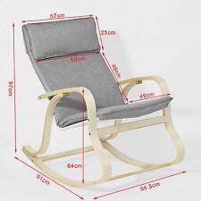SoBuy® Wooden Rocking Chair Reclining Relax Nursing Armchair Fst15-dg Grey UK