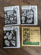 Lot of 4 Vintage Jigsaw Pattern Books/Magazines 1951 & 1956