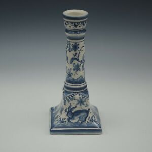 COIMBRA PORTUGAL BLUE WHITE CANDLE HOLDER CANDLESTICK