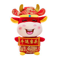 Mascot Stuffed Doll Good Luck Cattle Gift 2021 Chinese Year PP Cotton Plush Toys