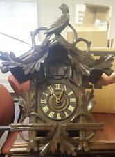 Antique Black Forest Cuckoo Clock Working Serviced & Never Used QUAIL Wooden