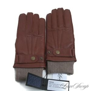 NWT Southcombe England Reeves Brown Deerskin Cashmere Mix Lined Gloves S NR #11