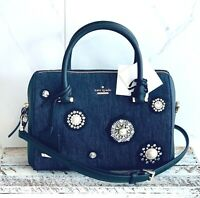 NWT Kate Spade Embellished Denim Beaded Large Lane Satchel Bag Purse ONLY ONE