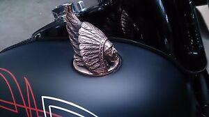Harley, Indian gas cap, custom , bobber , chopper , weld in, bronze handmade