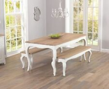 Solid Wood French Country Up to 8 Seats Table & Chair Sets
