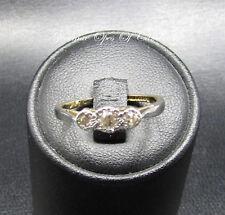 18ct Gold 18K gold Diamond Three Stone Ring Size L 2g