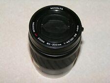 Minolta Zoom Maxxum AF 80-200mm f4.5-5.6 Lens