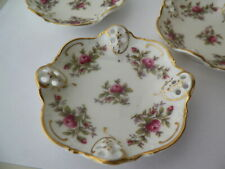 MINT SET OF 3  ROSENTHAL MOLIERE RETICULATED MOSS ROSE 3 7/8''BUTTER DISH