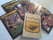 1987 HAWTHORN AFL / AFL SCANLENS Cards...Team Set - 3 Unmarked Check List