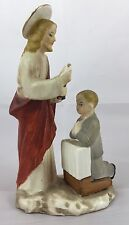 Vintage Japan Jesus Religious Confirmation Holy Communion Little Boy Figurine