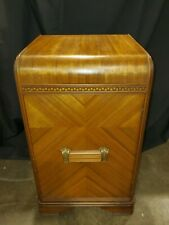 Antique Art Deco Waterfall Nightstand / Side Table