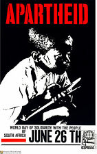 Political OSPAAAL POSTER.Anti-Apartheid.South Africa.Segregation History art.a9
