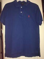 EUC Boys Ralph Lauren Polo Solid Cornflower Blue Casual Shirt (M 10/12)