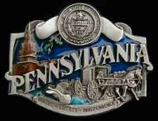Nicely Detailed Buckles Pennsylvania State Belt Buckle