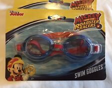 Disney Mickey and the Roadster Racers Swim Goggles One Size Blue/Red