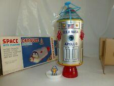 APOLLO ROCKET SPACE CAPSULE USA NASA ASTRONAUT BATTERY TIN TOY TRADE MARK JAPAN