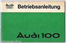 Betriebsanleitung Audi 100 , Stand 7/1976