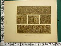 1932 Scozzese WWI Memoriale Stampa ~ Bronzo Fregio Tempio Hall Di Honour