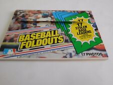 NICE Classic Oversize  ~ Set 1983 TOPPS Baseball FOLDOUTS 17 Stolen Base Leaders