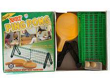 Vintage 1982 Nerf Ping Pong Game Table Tennis Parker Brothers Original 2 Balls