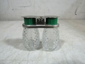 Vintage/Antique 1930's/40's Glass Snap Top Travel Salt & Pepper Shakers