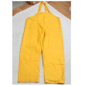 "Rain PVC Yellow Waterproof Bib Overalls Men's Style Number 8117 30"" Inseam P6"