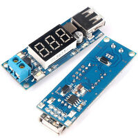 5V 2A USB Charger DC-DC Step-down Buck Converter Module with Voltmeter 4.5~40V