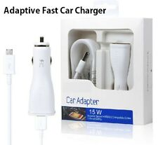 15W Adaptive Fast Car Charger+Micro USB Cable for Galaxy S7 S6 Edge NOTE 4 5 BOX
