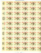 US 1552 10c Peace on Earth Sheet of  50 MNH POF left margin