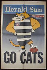 2007 AFL Herald Sun Geelong Go Cats Grand Final Newspaper poster