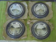 "NOS 66 67 Mercury Dog Dish HUB CAPS 10 1/2"" Set of 4 Hubcaps Merc 1966 1967"