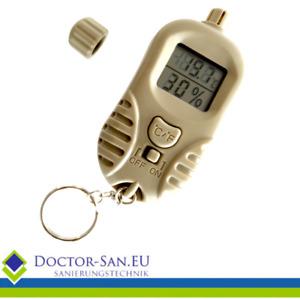 Mini Taschen-Hygrometer / Thermometer Schlüsselanhänger Feuchtigkeitsmessgerät