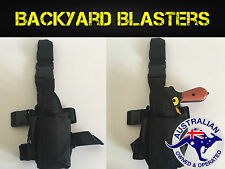 LEFT Hand Tactical Drop Leg Adjustable Pistol Gun Holster - Nerf Gun Holster
