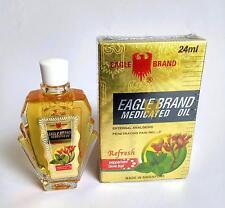 Eagle Brand Medicated Oil 24ml Refresh Cold Giddiness Headache Nausea 鹰标德国风油精