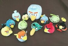Angry Birds Plush Backpack Clip Lot!! Toucan Red Blue Yellow Green Piggy Space