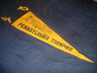 VINTAGE 1940s Pennsylvania Turnpike wool/felt Pennant
