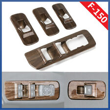 RT-TCZ Window Lift Panel Switch Trims Wood Grain For Ford F150 15-18 Accessories