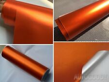 "12"" x 60"" Satin Matte Chrome Metallic Orange Vinyl Film Wrap Sticker Bubble Free"