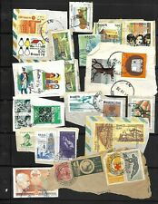 BRAZIL LOT / COLLECTION OF 63 STAMPS ON PAPER