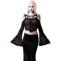 Killstar Gothic Goth Okkult Victorian Crop Top Oberteil Spitze - Hadara Spell