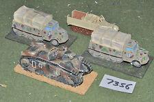 20mm ww2 tedesco vehciles 4 veicoli (7356) dipinto