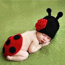 Newborn Baby Girl Crochet Knit Beatles Style Costume Photography Photo Prop Outf