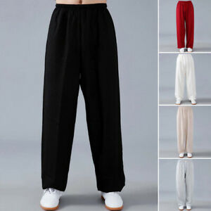 Linen Martial Arts Tai Chi Pants Trousers Loose Kung Fu Wingchun Pants Bloomers
