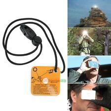 Practical Outdoor Survival Reflective Signal Mirror with Whistle Emergency Tool
