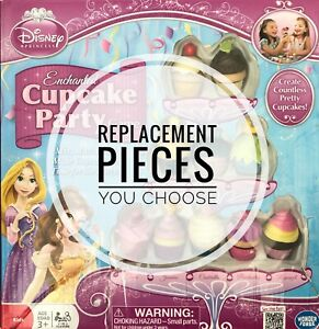 Disney Princess Enchanted Cupcake Party Game Replacement Pieces - You Choose