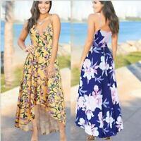 Boho Beach Women's Evening Casual Cocktail Dress Maxi Summer Sundress Long Party