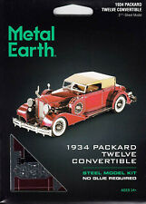 Fascinations Metal Earth 1934 Packard Twelve Convertible 3D Model Kit MMS175