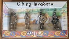 FULLY BOXED WESTAIR VIKING INVADERS PEWTER MICRO FIGURES TOY SOLDIERS SET OF 4