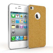 Schutz Hülle für Apple iPhone 4 / 4S Glitzer Cover Handy Case Gold